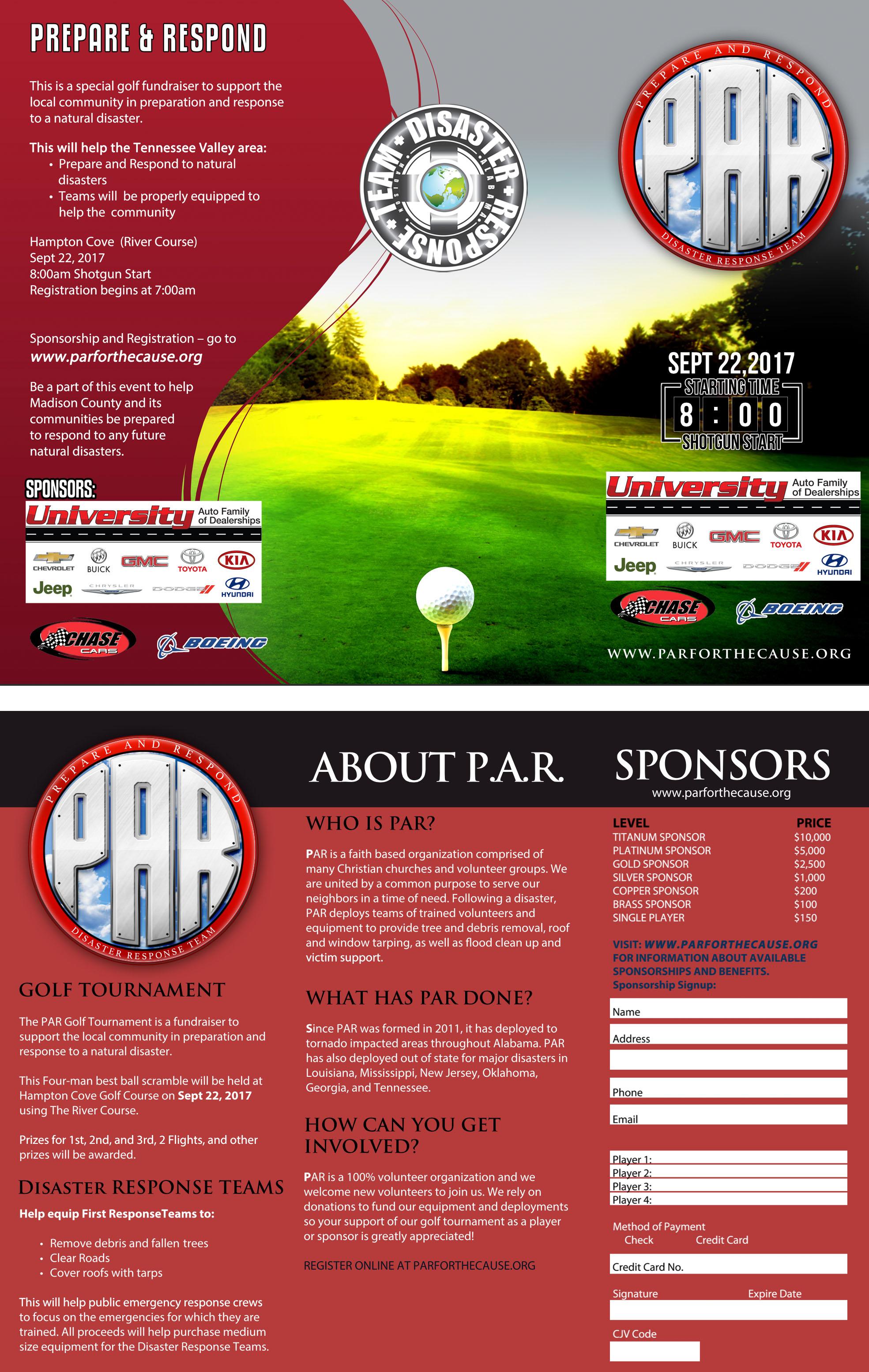 2017 PAR Golf Tournament