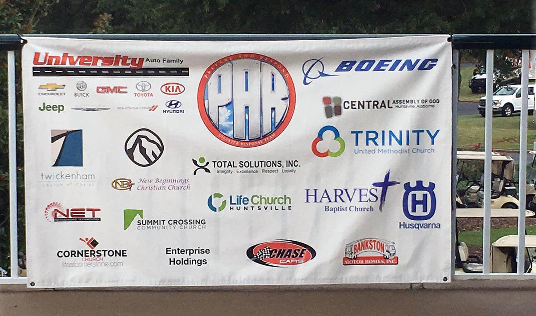 Golf Sponsors Banner 2018
